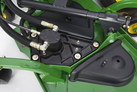 Entkoppelter Mähwerkmotor