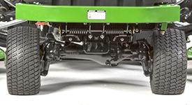 Mechanische Hinterradantriebsachse beim Großflächensichelmäher 1600 Turbo der Serie III
