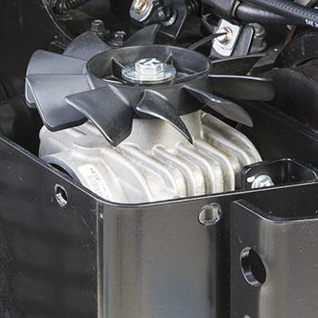 Gebläsebereich und Kühlrippen für Winkelgetriebe