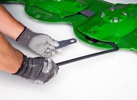 Spezialwerkzeug für schnellen Messerwechsel