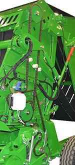 Antriebskonstruktion der Ballenpresse