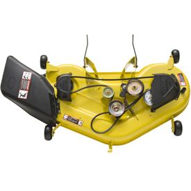 Edge™ Abschneidesystem mit einer Breite von 122cm (Abdeckung zur Ansicht der Mähwerksantriebs entfernt)