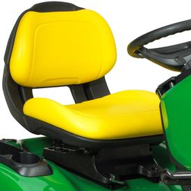 Bequemer Sitz mit offener Rückenlehne