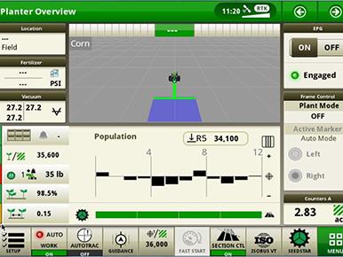 SeedStar™ 4HP auf dem Gen 4-Display abgebildet
