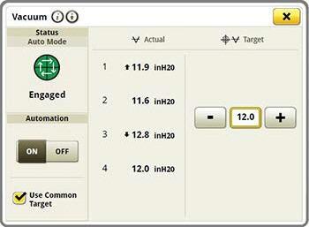 Anzeige zur Unterdruckautomatisierung am Gen 4-Monitor