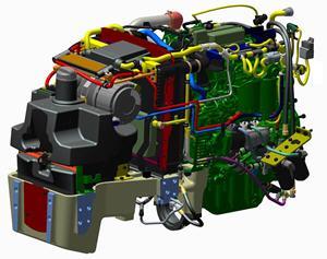 Kraftvoller und kompakter Motor der Abgasstufe IIIB für 5GL-Traktoren