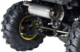 Heckansicht des Achsgetriebes/ der Gleichlaufwellen (XUV 625i)