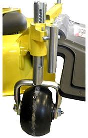 Rueda engrasable con incrementos de 6,4 mm (1/4 in) (número de serie -050.001 y posteriores)