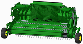 El Maxicut™ HC 25 Premium tiene un solo eje para el rotor y los sinfines transversales