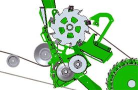 Giro hacia adentro del procesador de grano