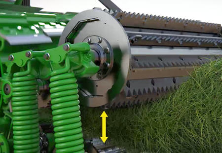 Compactación del cultivo y alimentación uniforme en el rodillo de alimentación