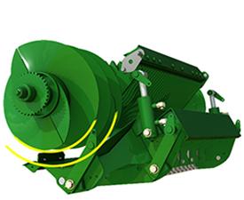 Espacio libre de 40 mm (1,57 in.) debajo del rotor