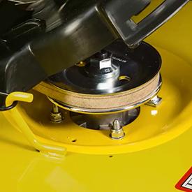 Acceso al soporte del rotor con tapa abatible