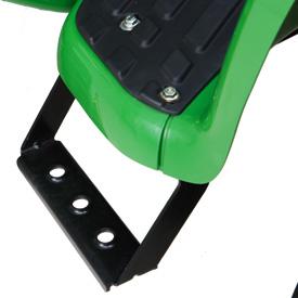 El escalón izquierdo facilita el acceso al tractor.