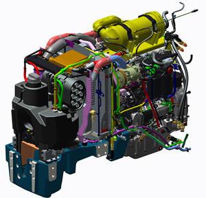Potente y compacto motor Fase IIIB en los tractores 5GF, 5GN y 5GV