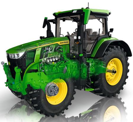 95 por ciento de eficiencia general del tractor