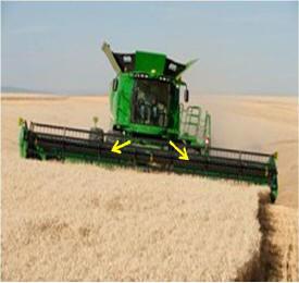 Tapis de récolte 700D avec convoyeur à inclinaison latérale