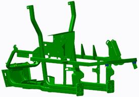 Châssis à tubes en acier à haute résistance mécanique