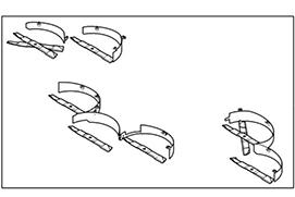 Illustration du kit de paillage pour tondeuses pour grandes surfaces de travail