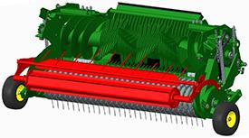 Rouleau de compression de l'andain réglable