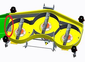 Accessoire MulchControl avec déflecteur fermé