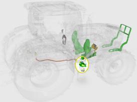 Intégration de vanne sous la cabine du tracteur