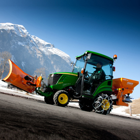 Cabine confort John Deere en option