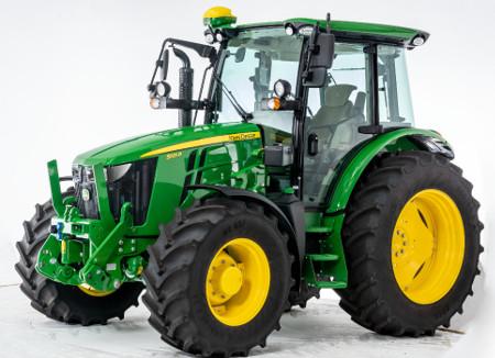 Tracteur5R équipé du système de guidage AutoTrac