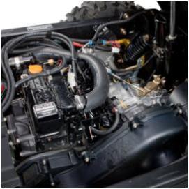 Vue du dessus du moteur (XUV855M illustré)