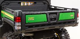 Caisse de chargement illustrée avec les protecteurs de feu arrière en option