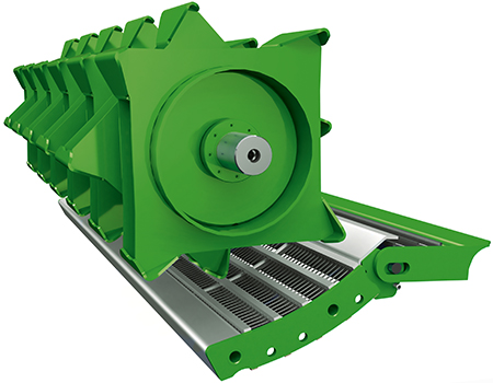 Pre-threshing cylinder (PTC) is available for 5- and 6-walker combines