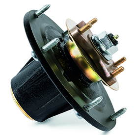 Cast-iron mower spindle assembly