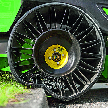 Flat-free rear tire on ZTrak™ Mower