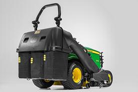 Optional 500-L (14-bu) 3-bag Power Flow rear bagger shown