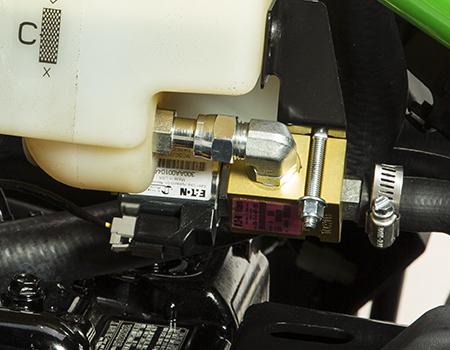 Hydraulic oil leak detector solenoid