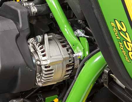 56-V alternator on 2750 E-Cut Hybrid Triplex Mower
