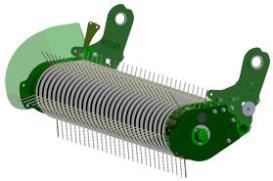 Large-diameter stripper and five teeth bars improve picking capacity