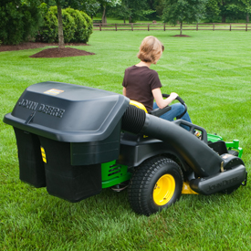 Hopper, chute, and blower on EZtrak™ Mower