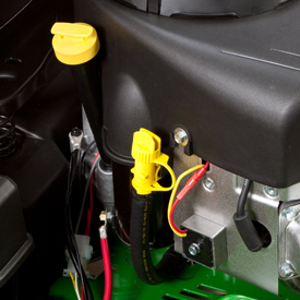 Engine oil check/fill tube and oil-drain tube