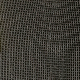 Close-up view of loose-knit bag material