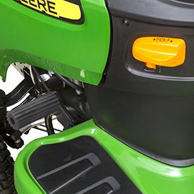 Brake pedal and parking brake lock