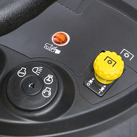 Hopper-full indicator light on tractor dash