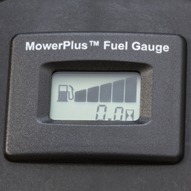 Easy-read fuel gauge showing full tank