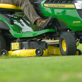 X155R with 107-cm (42-in.) Mower Deck
