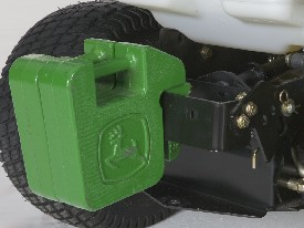 Weight bracket shown with two 19-kg (42-lb) weights