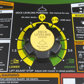Mower deck height adjustment