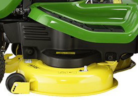 Side view of Accel Deep 42A Mower Deck