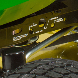 Adjustable lift assist spring decal