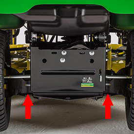 Rear equipment mounting system