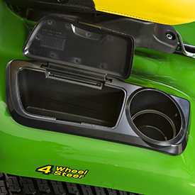 Covered toolbox with open cover